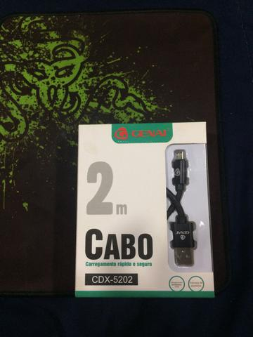 CABO DE DADOS CORDA 2M V8/MICRO USB GENAI CDX-5202
