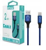 CABO DE DADOS USB 2M 2.1A LIGHTNING APPLE IPHONE EBAI FZF-1805