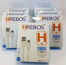 CABO DE DADOS V8/MICRO USB 2.1A 1.2M HREBOS