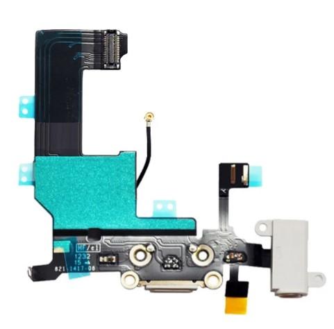 CABO FLEX FLAT DOCK CONECTOR DE CARGA APPLE IPHONE 5G A1428 BRANCO RETIRADA