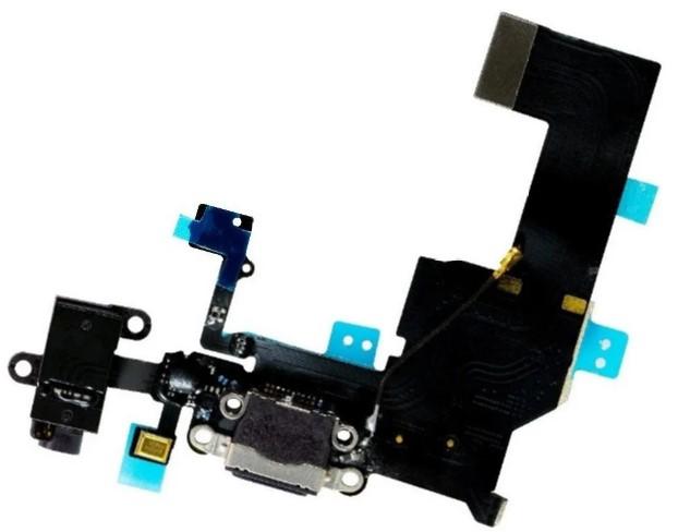 CABO FLEX FLAT DOCK CONECTOR DE CARGA USB FONE APPLE IPHONE 5C A1507 PRETO RETIRADA