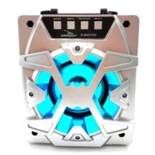 CAIXA DE SOM BLUETOOTH FM USB MP3 10W GRASEP D-BH3102