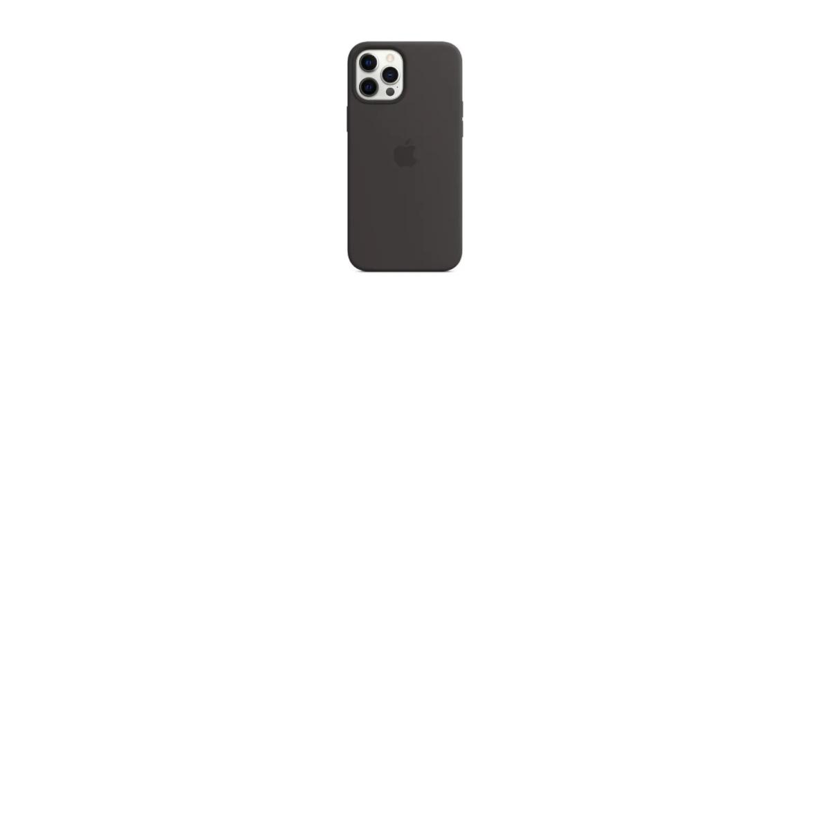 CAPA CAPINHA SILICONE IPHONE 12 PRO MAX PADRAO ORIGINAL PRETA