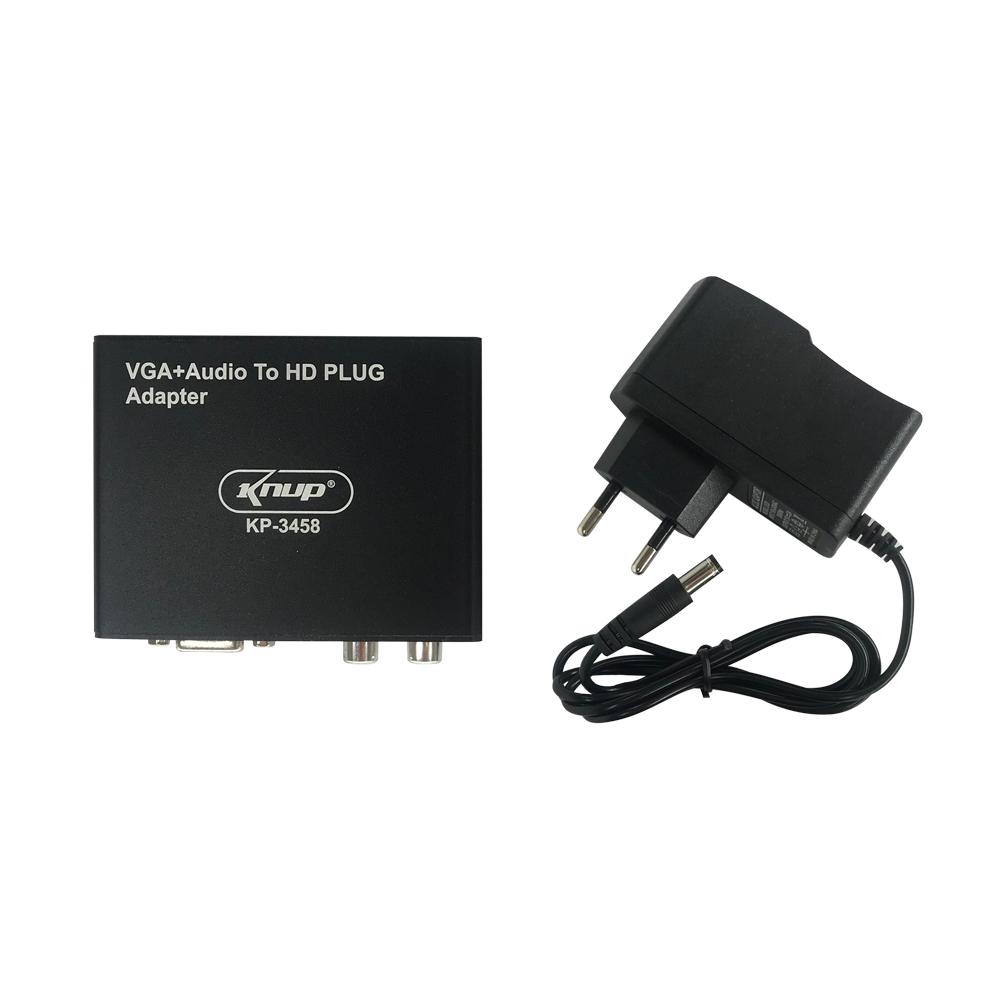 CONVERSOR HDMI X VGA COM AUDIO KNUP - KP 3458