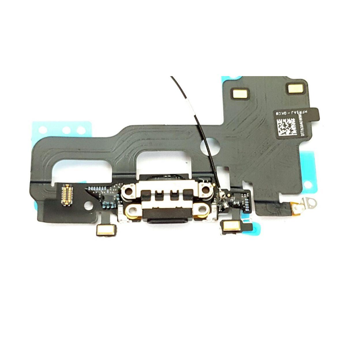 FLEX CONECTOR DOCK CARGA APPLE IPHONE 7 A1778  PRETO RETIRADA