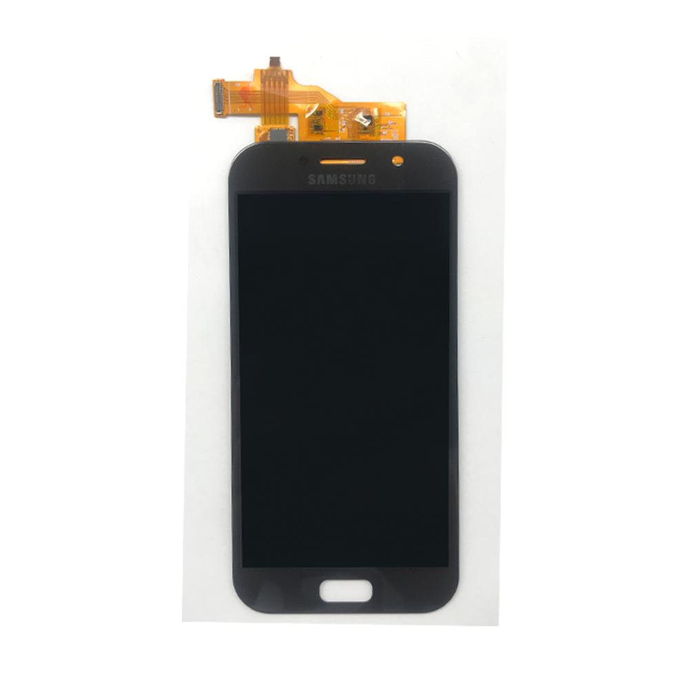 FRONTAL TELA TOUCH LCD DISPLAY SAMSUNG SM-A520F A520 A5 2017 PRETO COM BRILHO