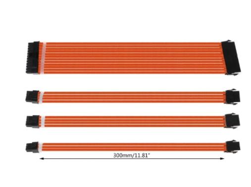 KIT CABO EXTENSÃO ATX PC GPU CPU LARANJA