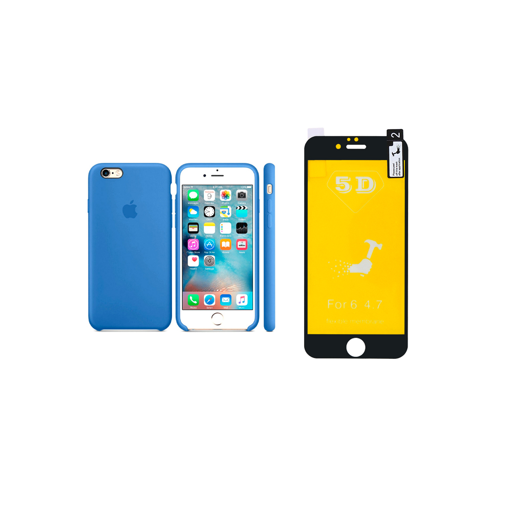 KIT CAPINHA+PELICUA 5D IPHONE 6G/6S