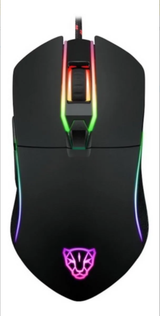 MOUSE GAMER COM FIO MOTOSPEED V30 RGB COM MACRO