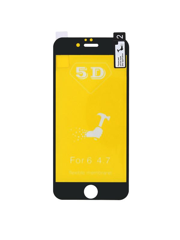 PELICULA DE SILICONE GEL 5D IPHONE 6G / 6S PRETA