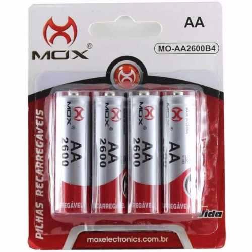 PILHA RECARREGAVEL MOX MO-AA2600 B4