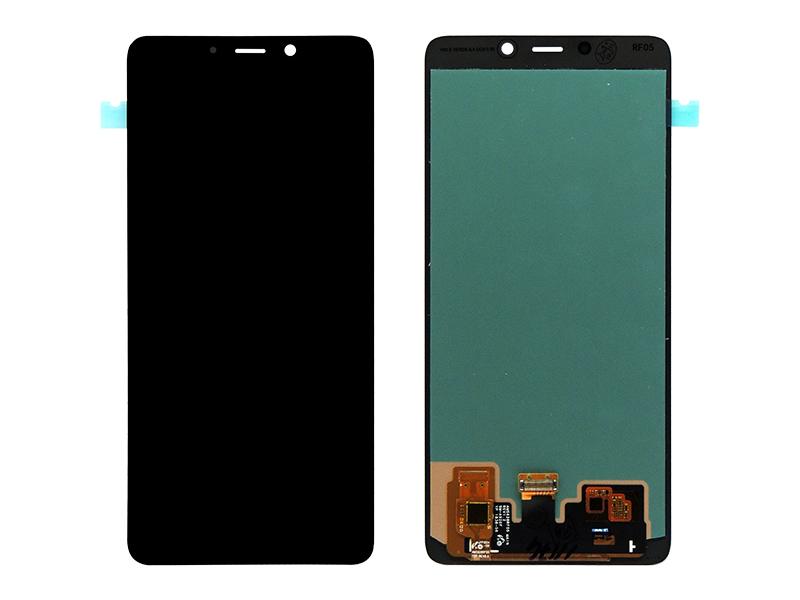 TELA FRONTAL DISPLAY LCD SAMSUNG A920 A9 2018 GRAFITE PRETO