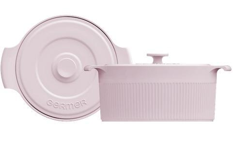 Cocotte de Porcelana Rosa Fractal - 2,75L
