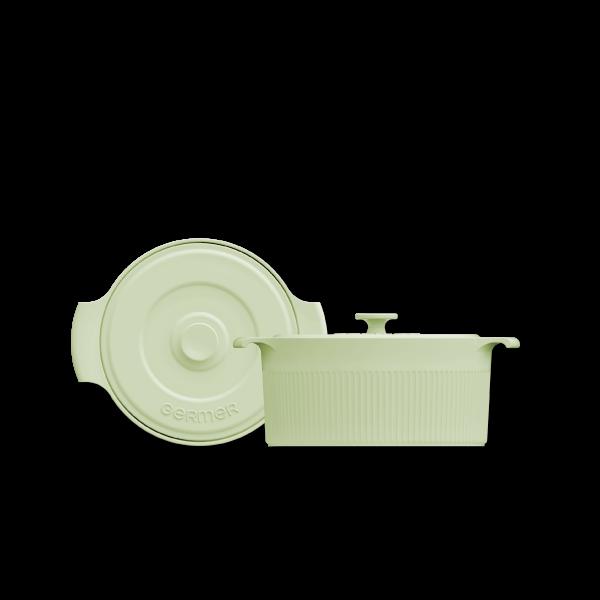 Cocotte de Porcelana Verde Menta - 2,75L