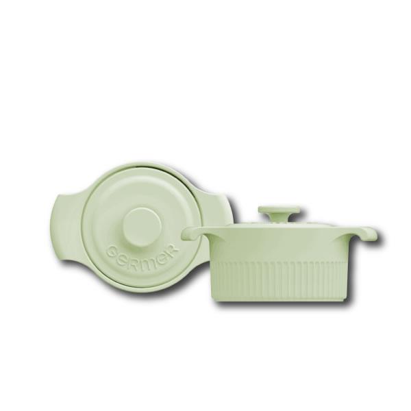 Cocotte Verde Menta - 10cm