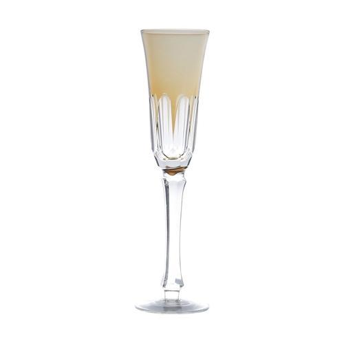 Taça Para Champagne de Vidro Lapidado