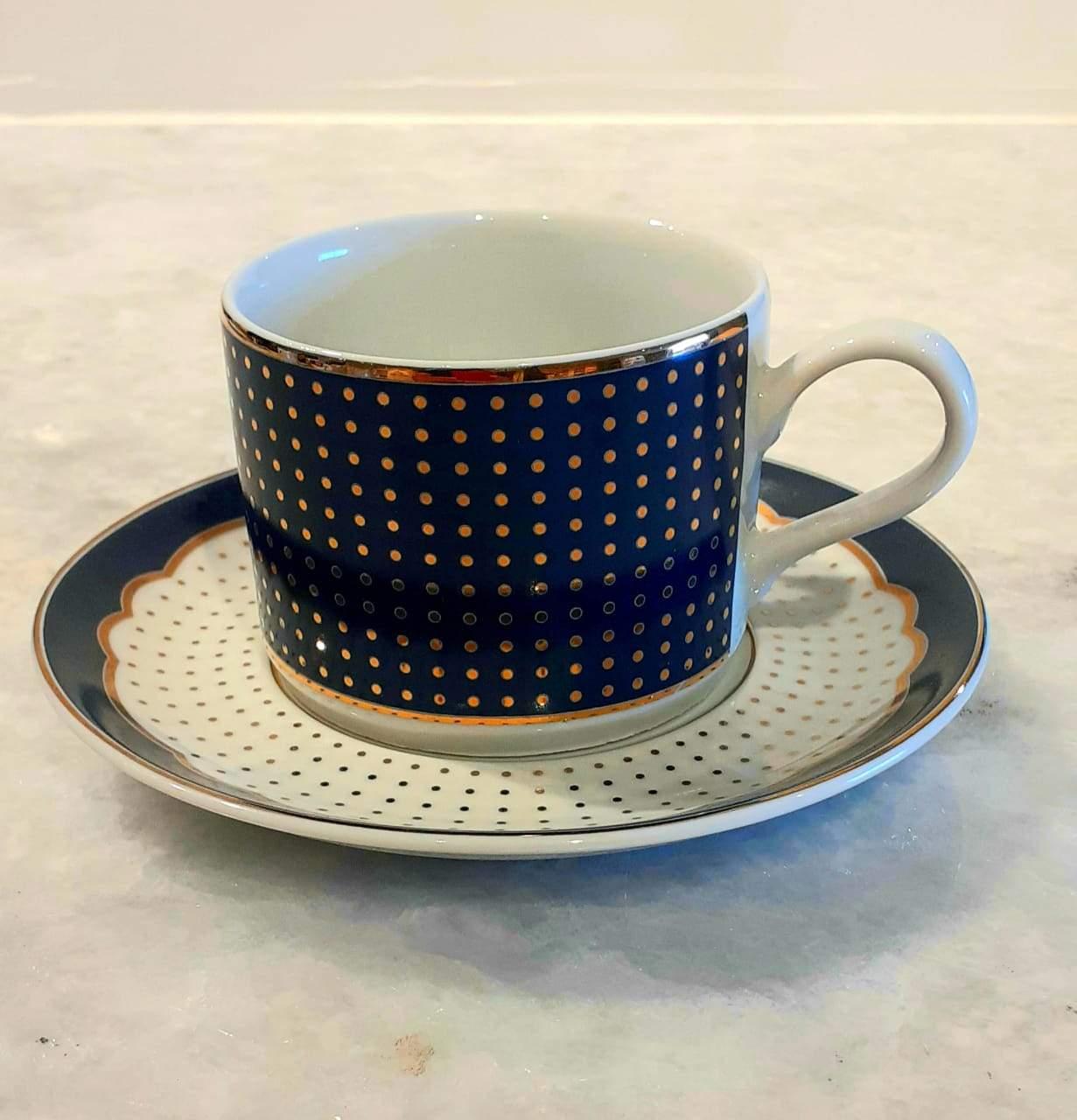 Xícara Para Chá Azul Versa