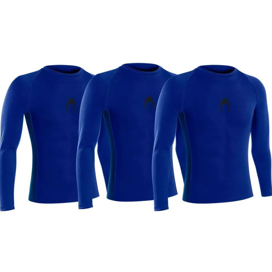 Kit 3 camisetas manga longa térmicas HO Soccer