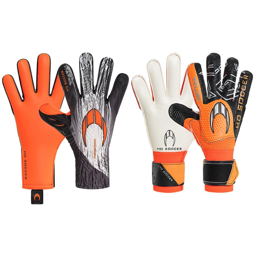 Kit Luva HO Soccer Phenomenon Magnetic II Orange Shadow + Initial Flat Orange