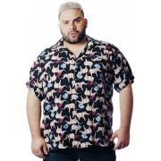 Camisa Plus Size Estampada Viscose Cherry Pop Elefantes (P Ao Plus Size)