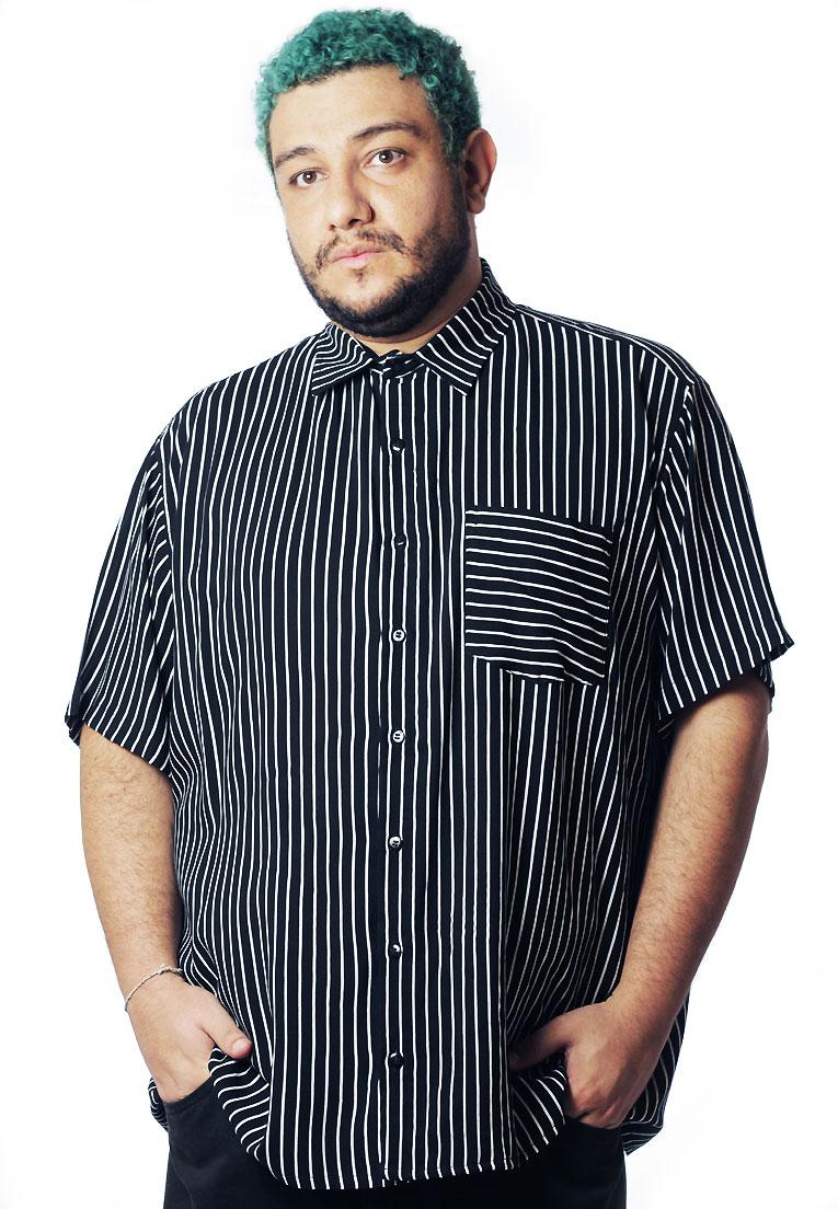Camisa Plus Size Estampada Viscose Cherry Pop Santiago (P Ao Plus Size)