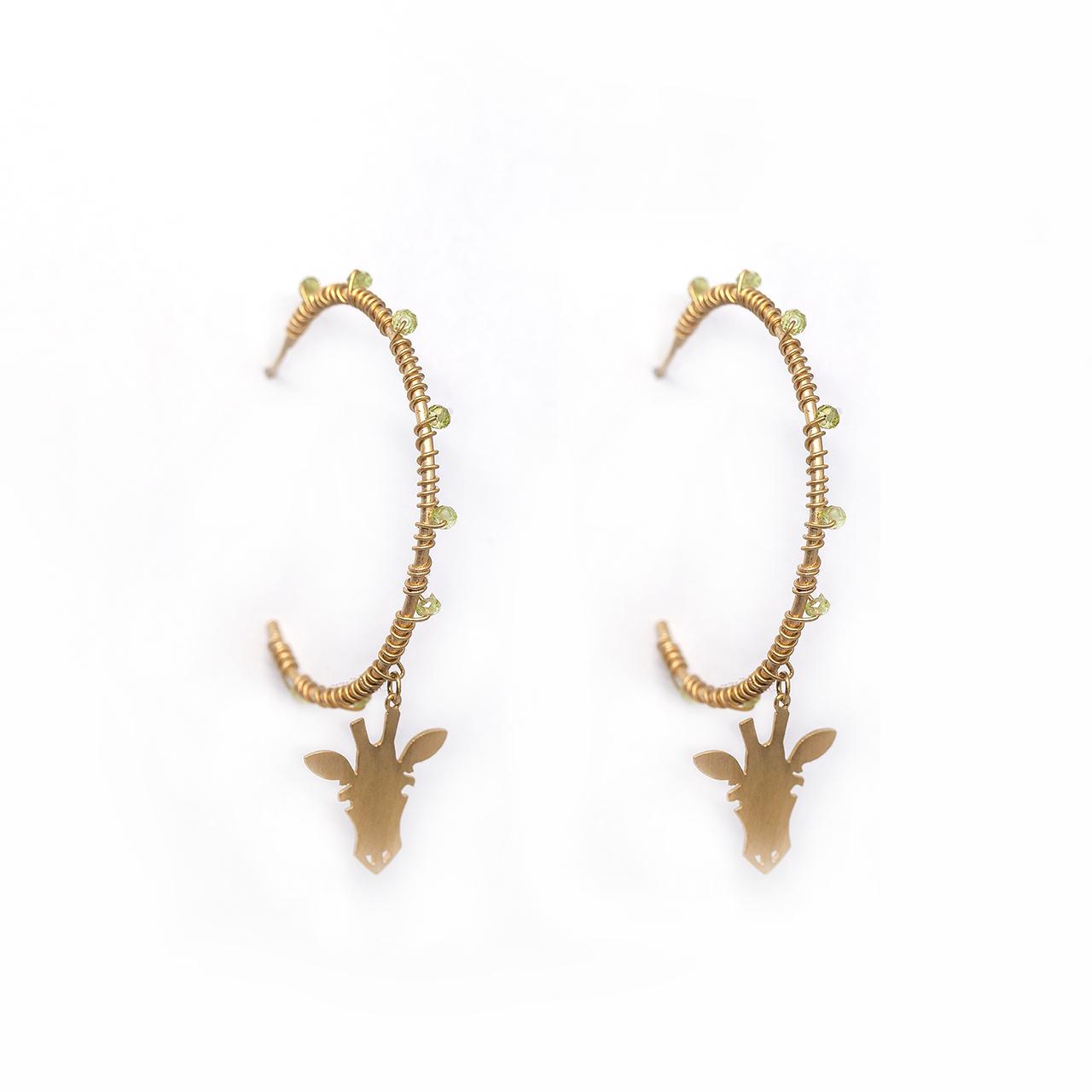 Argola g pedras girafa m