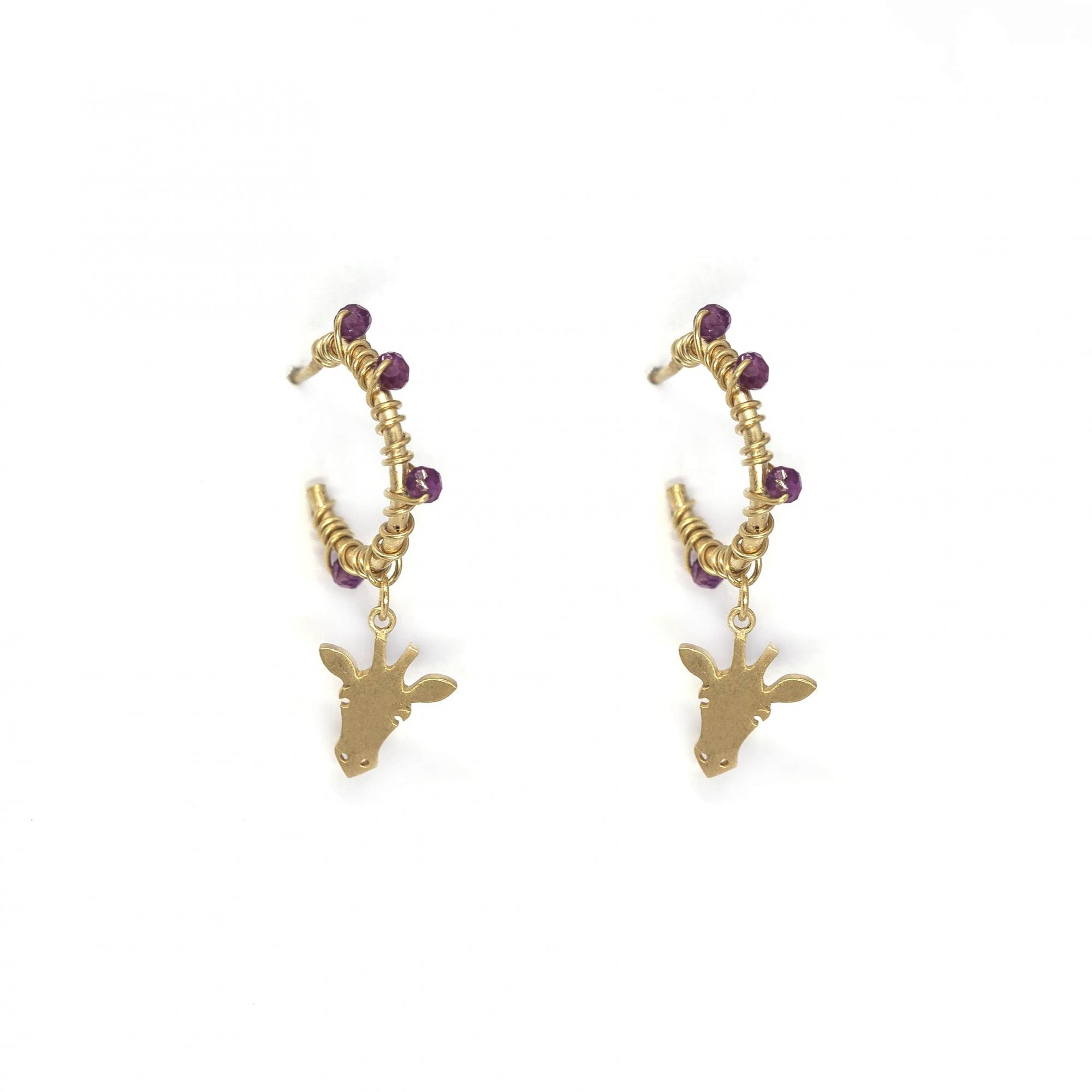 Argola p pedras girafa