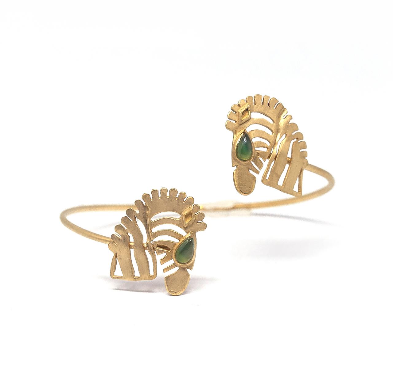 Bracelete 2 zebras com pedra