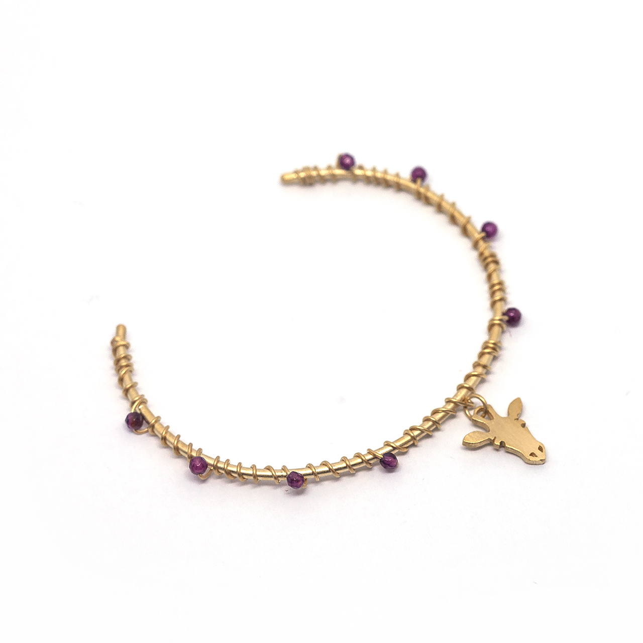 Bracelete pedras girafa p