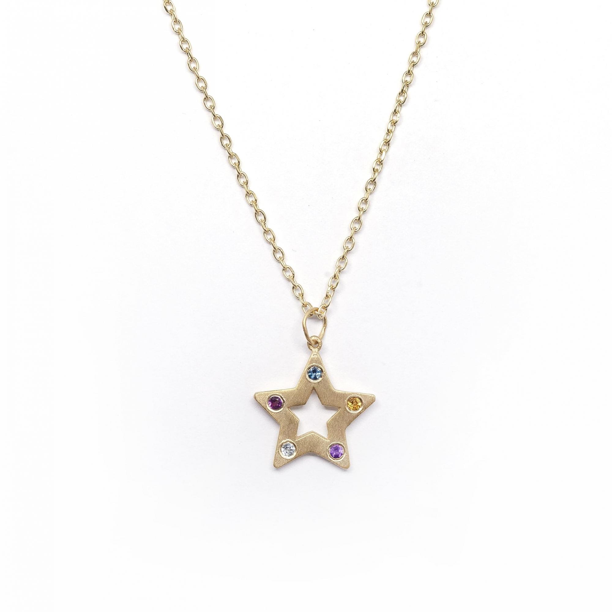 Cordão Estrela P Pedrinhas