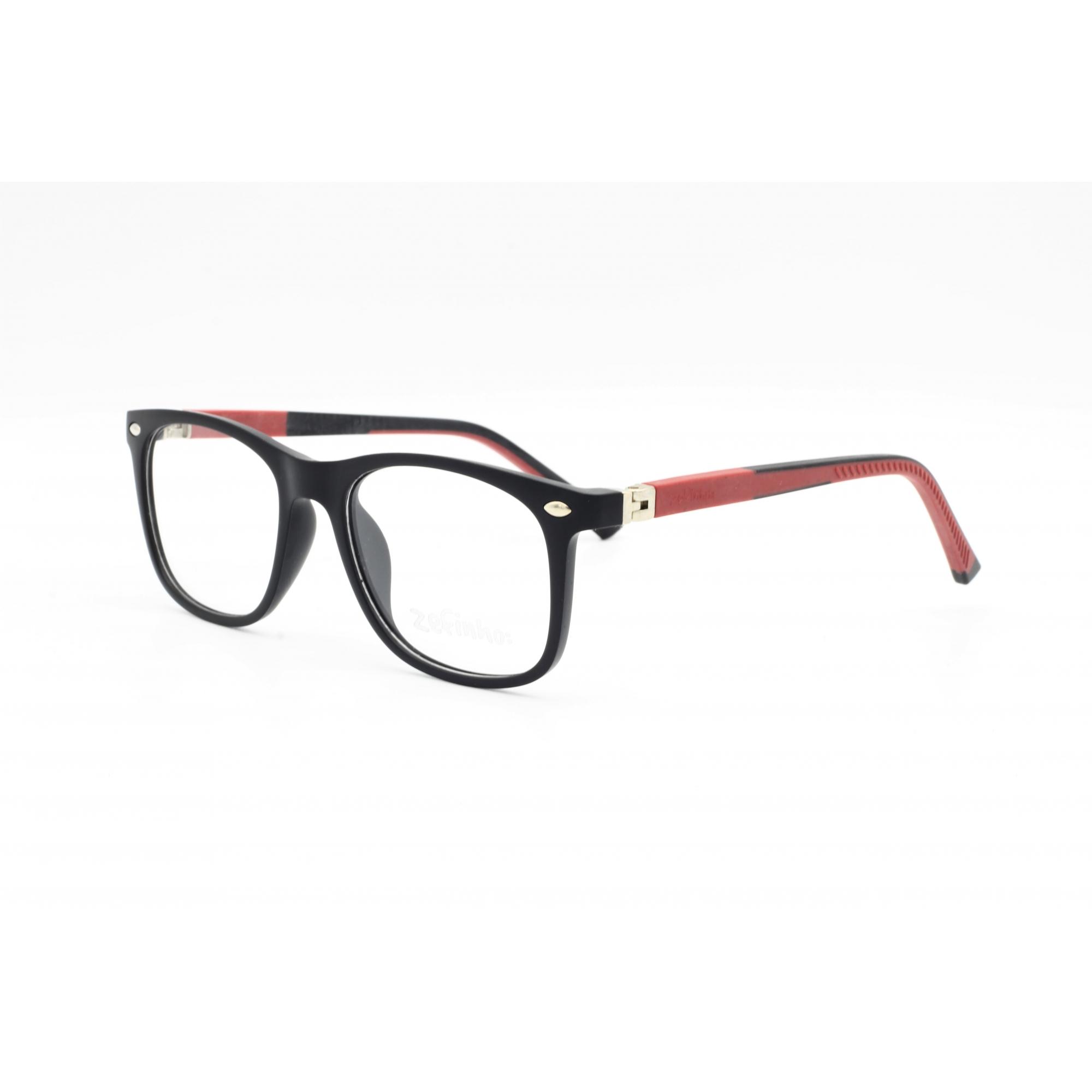 Armação Óculos sem Grau para Menino cor Preto e Marrom Ref. ZEFINHO 18148 C2 46