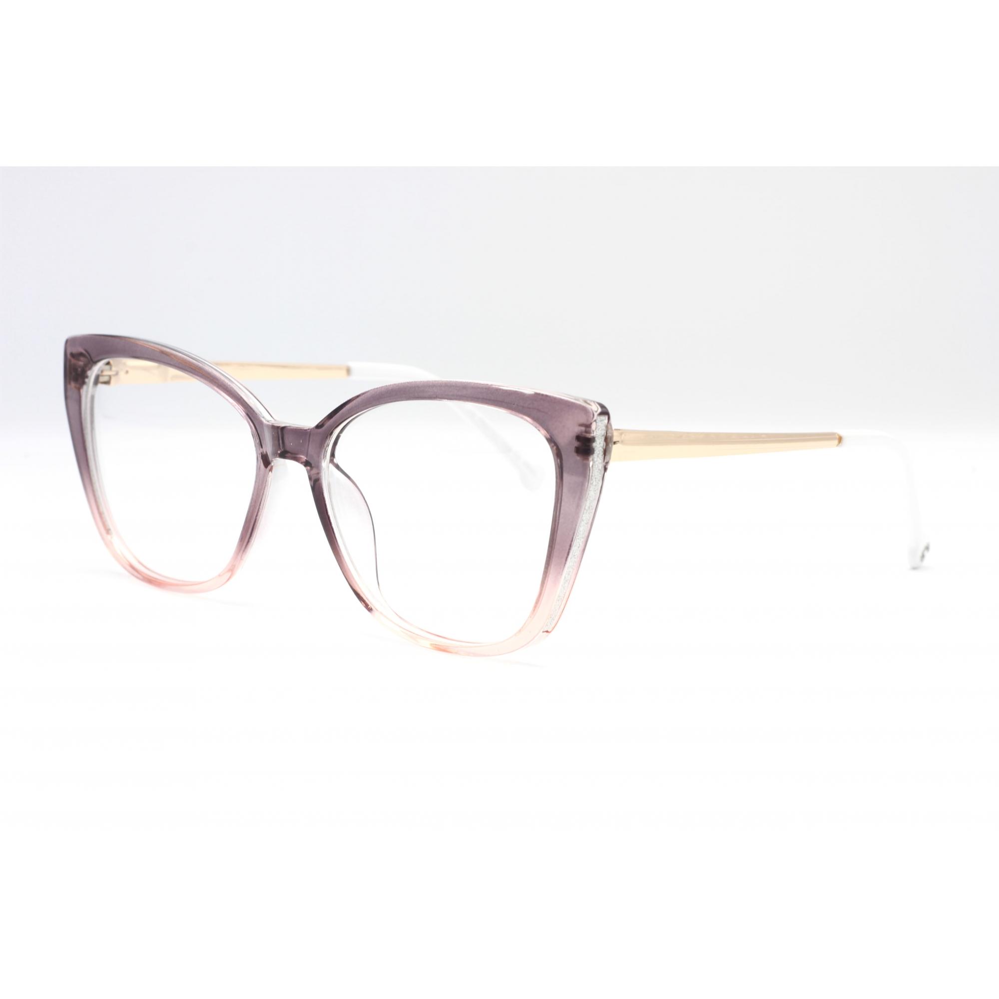 Armação com óculos sem grau, CAZÉ Feminina  em cor dourado e suave violeta    Ref BR5634 C6 55