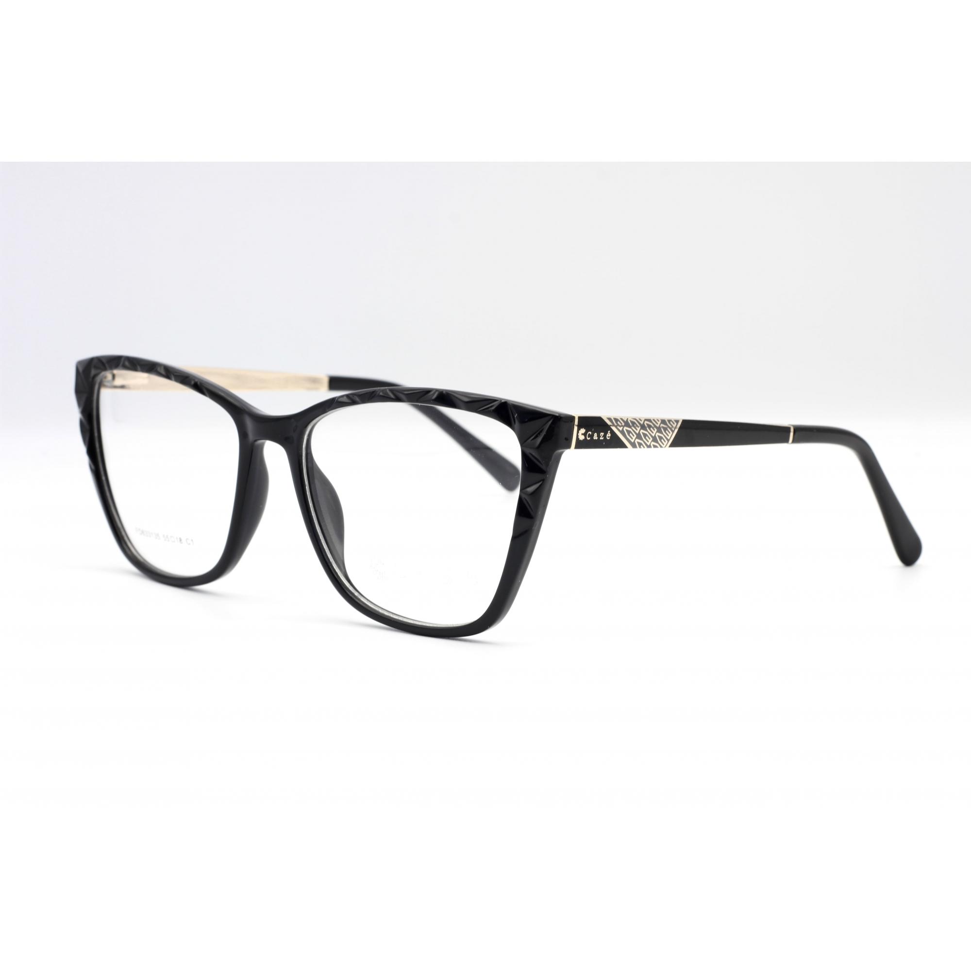 Armação com óculos sem grau, CAZÉ Feminina  em cor Preto     Ref  FD633135 C1 55