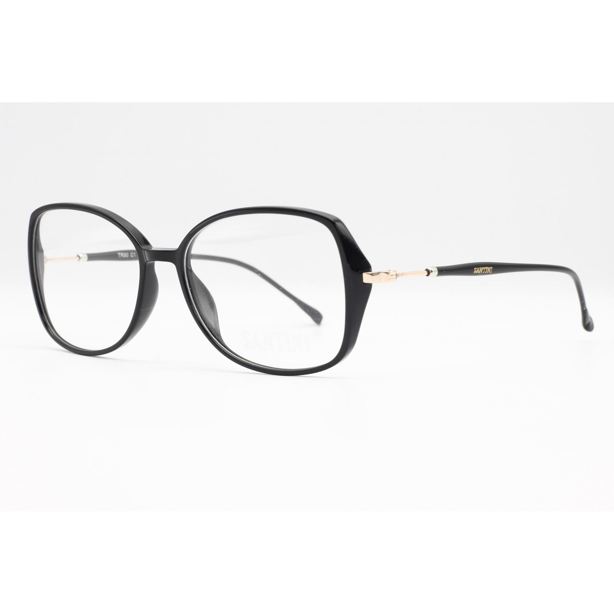 Armação com óculos sem grau, SANTINI em cor Preto Ref SANTMT4206C154
