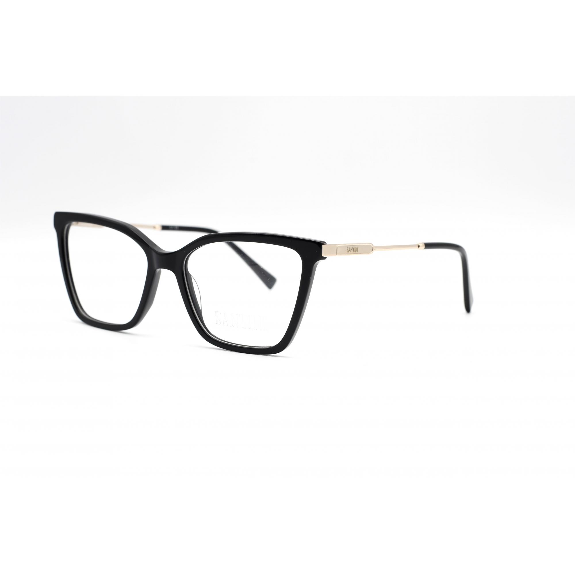 Armação com óculos sem grau, SANTINI em cor Preto Ref MB4644 C1 54