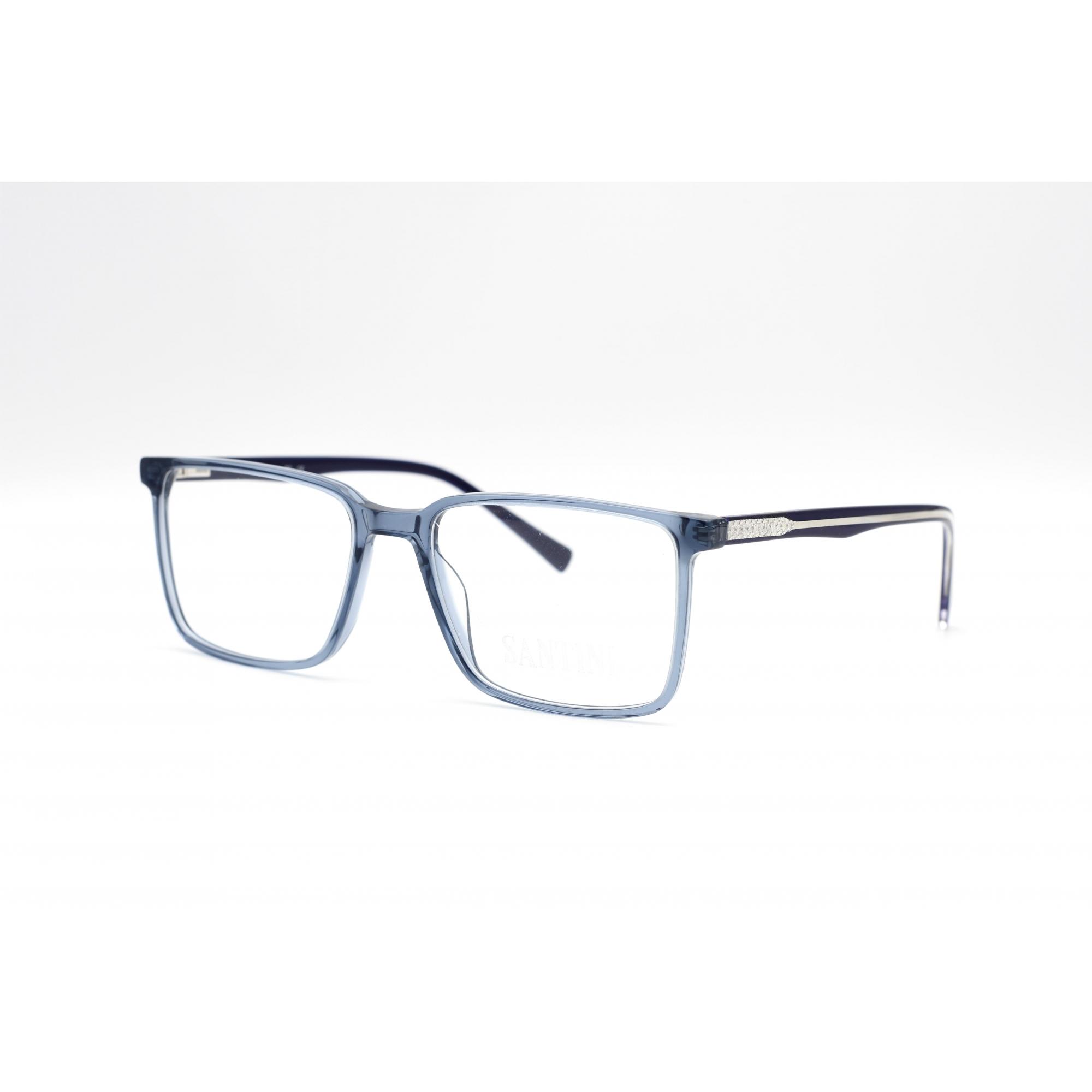 Armação com óculos sem grau, SANTINI Masculina em cor Preto Ref MB4664 C3 55