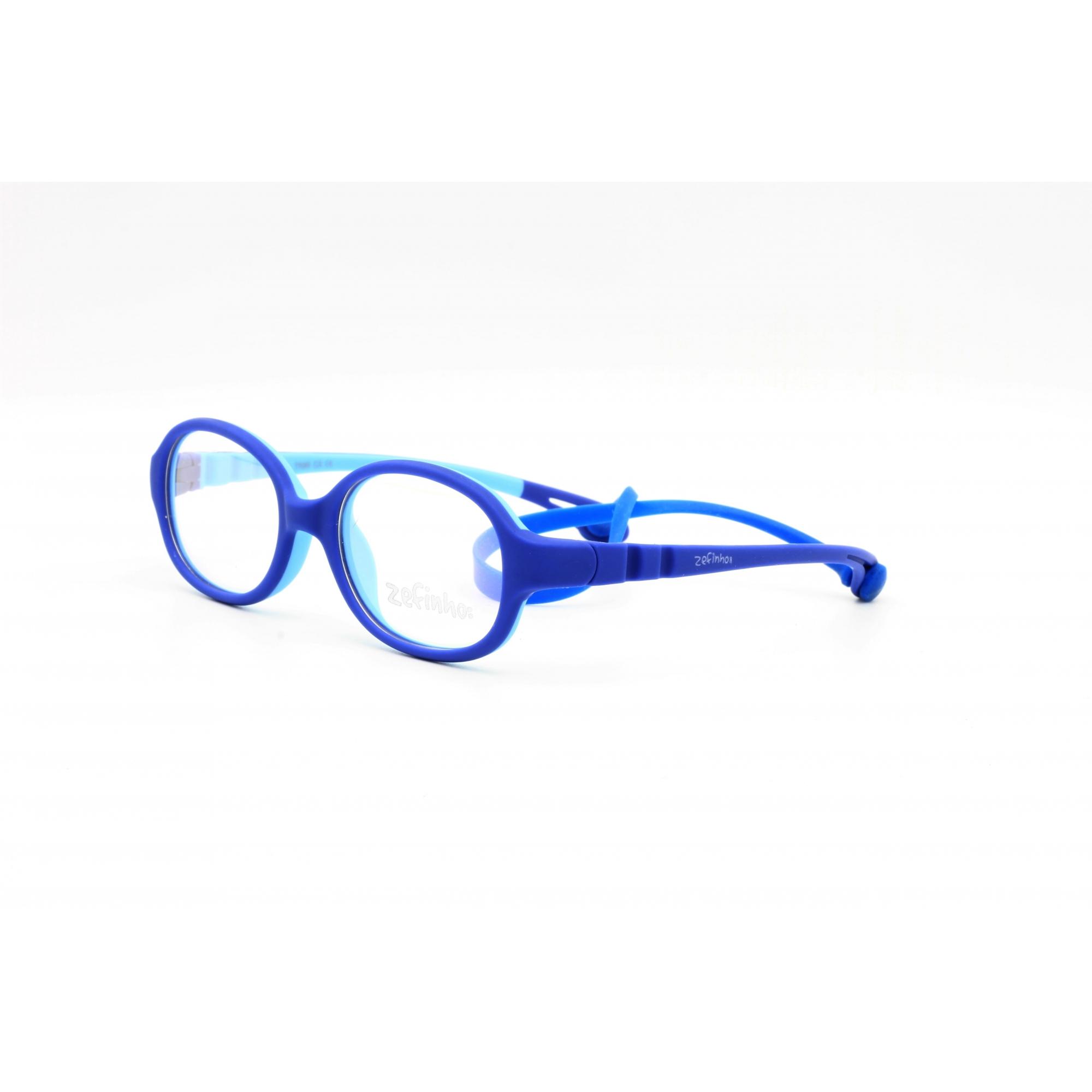 Armação Óculos sem Grau para Menino cor Azul  Ref. ZEFINHO BL502 C3 41