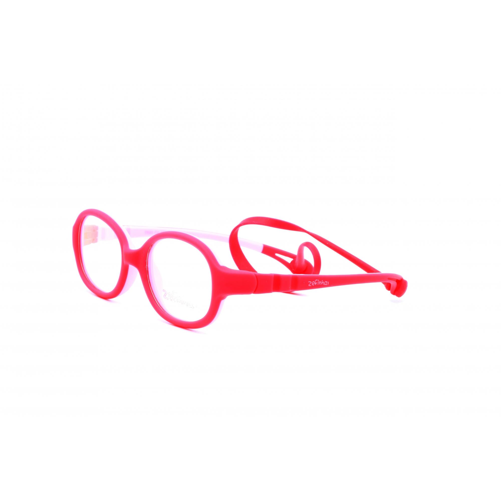 Armação Óculos sem Grau para Menina cor Vermelho Ref. ZEFINHA BL502 C4 41
