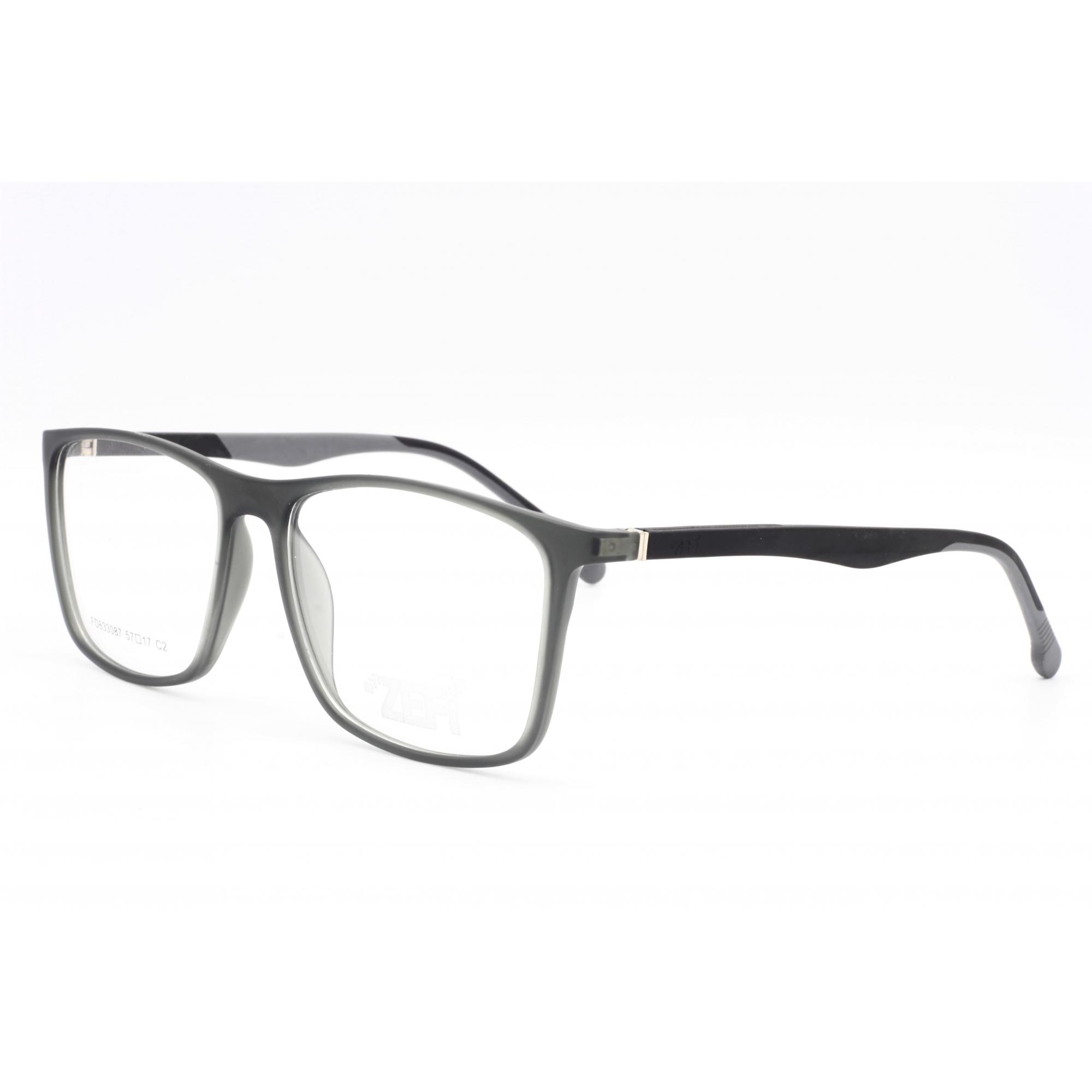 Armação com óculos sem grau, ZEFI Masculina em cor Preto   Ref ZEFI FD633087 C2 57
