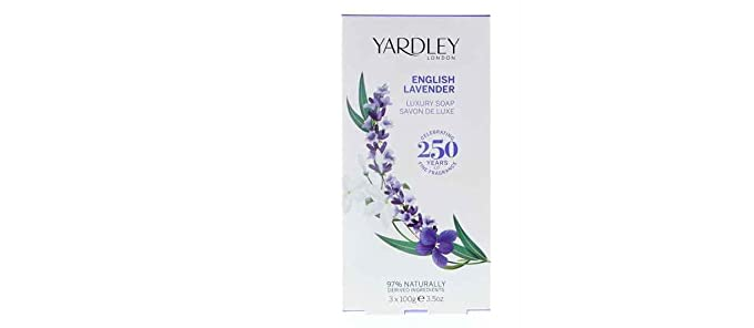 YARDLEY ENGLISH LAVANDER CAIXA DE SABONETES 3 X 100grs