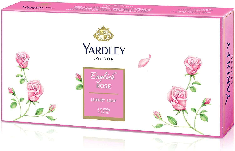 YARDLEY ENGLISH ROSE CAIXA DE SABONETES 3 X 100grs