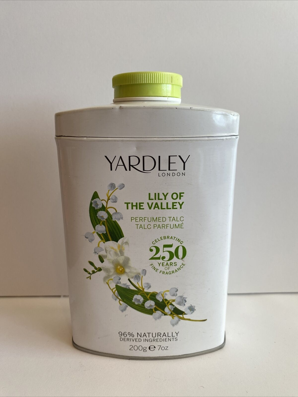 YARDLEY LILY OF THE VALLEY talco perfumado 200grs
