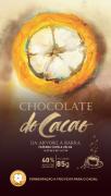 Barra de chocolate 40% com nibs de café - 85g