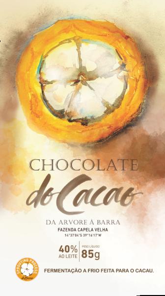 Barra de chocolate 40% ao leite - 85g