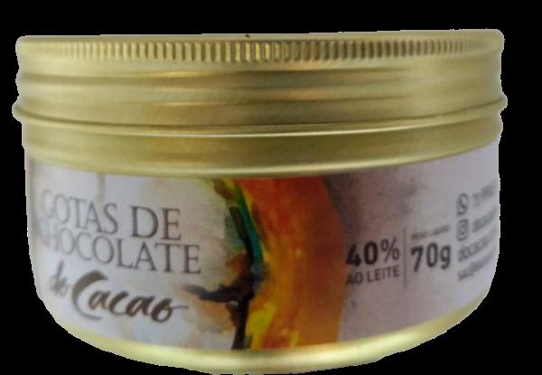 Gotas de Chocolate 40% ao leite 70g