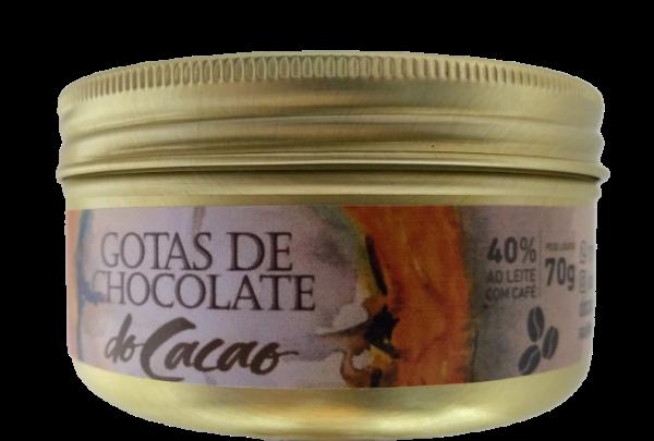 Gotas de chocolate 40% com café 70g