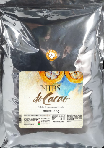 Nibs de Cacau Natural 3 Kg