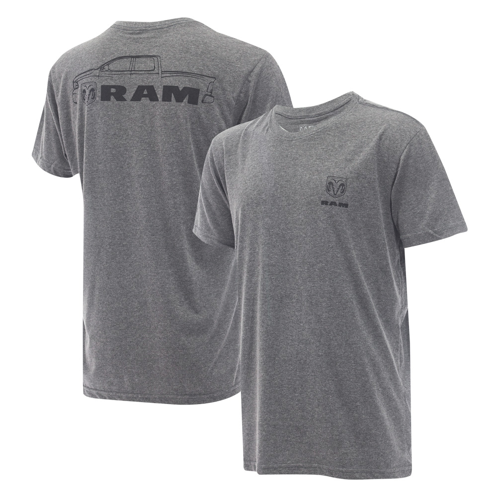 Camiseta Masc. RAM DTG Pickup - Cinza Mescla