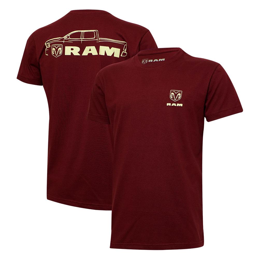 Camiseta Masc. RAM DTG Pickup - Vinho