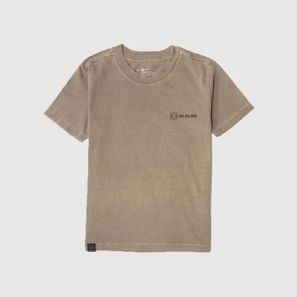 Camiseta Inf. RAM Back Print Estonada - Marrom